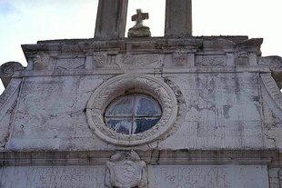 The Kalergis family crest on Profitis Ilias Church, Mournies