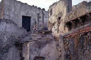 La cour d'une construction Vénitienne à Sternes