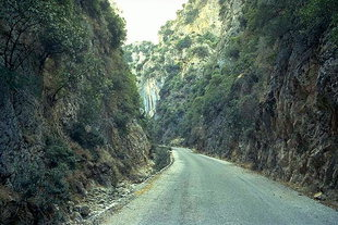 The road through the Therisos Gorge