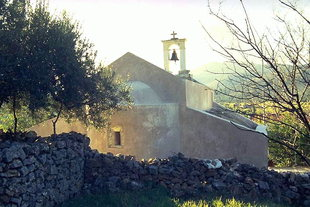 The Byzantine church of Agios Ioannis in Fourni