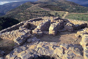The fortress-like Minoan villa in Hamezi