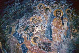 Dormition of the Virgin in the Panagia Mesohoritisa  Church in Males