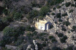 Die hübsche Analipsis-Kirche bei Males