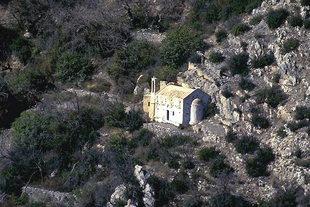 The decorative Analipsis Church near Males