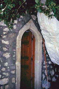 The portal of Agia Paraskevi Chapel in Christos