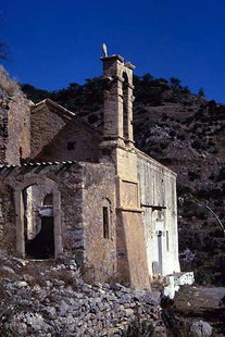 Die hübsche Analipsis-Kapelle bei Males