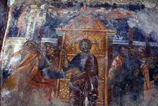 Une fresque dans l'église des Agii Apostoli à Andromili, Lithines