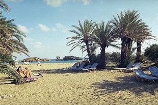 Η παραλία του Βάϊ στην ανατολική Κρήτη