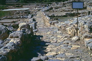 The Minoan paved road in Zakros