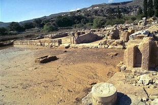 The Central Court of the palace and the altar block, Zakros