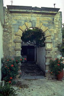 The Venetian portal known as Porto Romano, Houmeriako