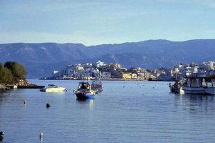 Agios Nikolaos from Limena Peninsula
