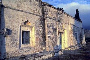 Η πρόσοψη της εκκλησίας του Σωτήρα Χριστού στη Γέργερη