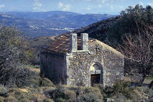 The Byzantine church of Timios Stavros near Varsamonero Monastery