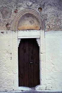 The portal of the Panagia Hanoutias Church in Gergeri
