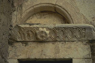 A detail of the portal Sotiras Christos Church in Gergeri