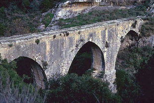 The Venetian aqueduct support in Fortetsa (Karidaki)