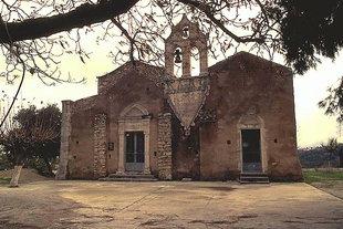 Die byzantinische Agios Georgios-Kirche in Kournas