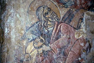 A fresco in Agia Irini Church in Kournas