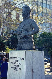 Statue of A. Skalides (Revolutionist) in Platia 1866, Chania