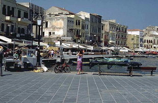 Sindrivani Square in Chania harbour