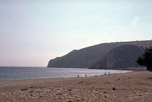 La plage à Sougia