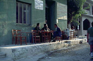 Cafe in Paleohora