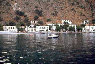The anchorage in front of Loutro