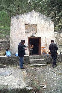 Die byzantinische Kirche Osia Maria in der Samaria-Schlucht