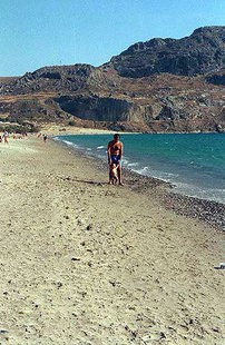 Der Strand von Plakias