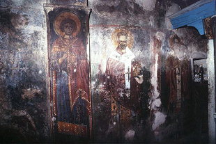 Frescoes in Sotiras Church in Kato Viannos