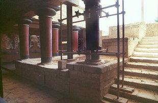 Säulenhalle in den Königlichen Gemächern, Knossos