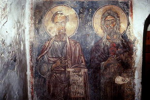 A fresco in the Panagia Church in Vigli