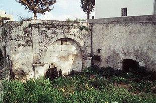 La réservoir Romaine à Agia Fotia près d'Harakas