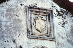 Crests on the villa in Rodia