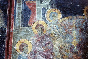 A fresco in Esodia Theotokou Church in Sklaverohori