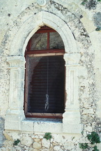 A detail of the Agia Irini Monastery