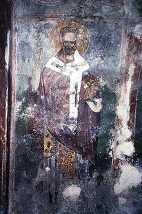 A fresco in Sotiras Church in Kato Viannos