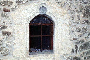 A window in Sotiras Church in Kato Viannos