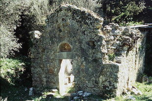 The crumbling Agios Georgios Church in Agia Irini