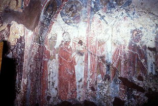 The donors (Georgios and Moshana Kantanoleon) of the Panagia Church, Rodovani