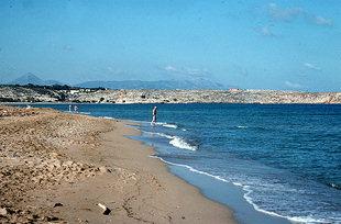 La spiaggia di Amnisos