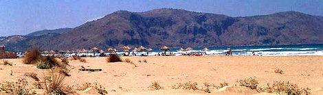 Der Strand von Georgioupolis