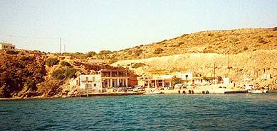 Το μικρό λιμάνι στη Γαύδο