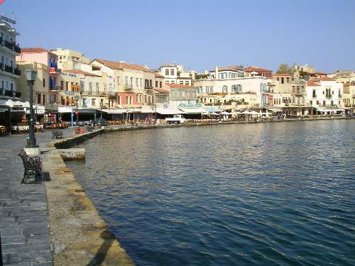 View of the old harbour of Chania