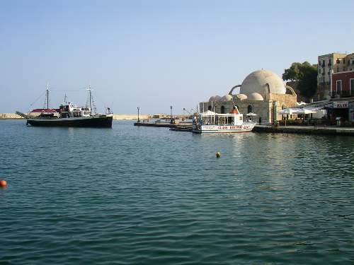 The Mosque in the old harbour of Chania