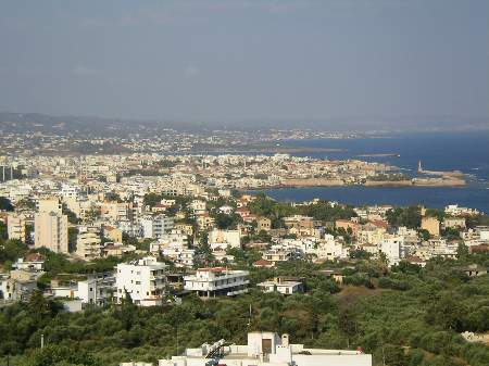 Chania seen from Akrotiri