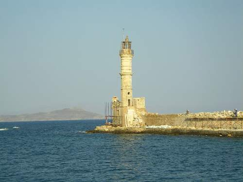 The Venetian Lighthouse in the old harbour of Chania