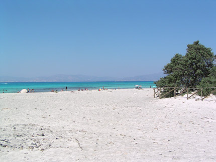 Beach on Chrisi Island