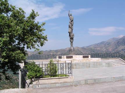Monument in Laki village
